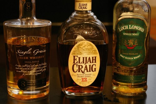 Greenore, Elijah Craig & Loch Lomond Whiskies